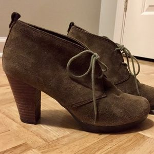 Giani Bernini Olot Olive Suede LaceUp Booties